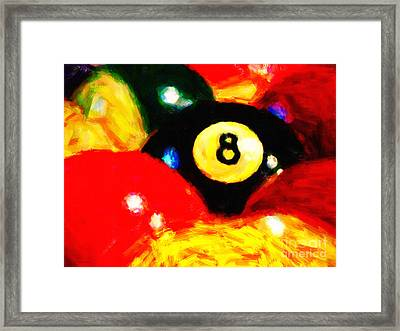 Behind The Eight Ball Framed Print by Wingsdomain Art and Photography