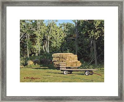 Behind The Grove Framed Print by Bruce Morrison