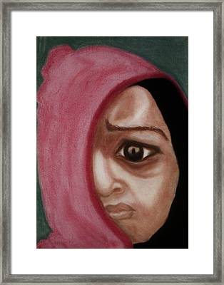 Behind The Mask Framed Print by Airybot