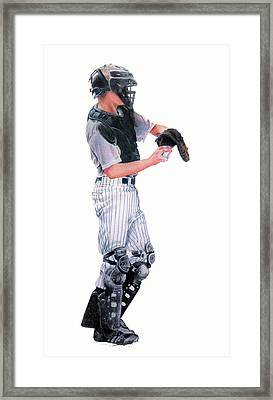 Behind The Plate Framed Print by Catherine Henry