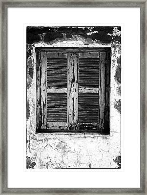 Behind The Shutter Framed Print by John Rizzuto