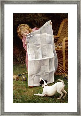 Behind The Times Framed Print by William Henry Gore