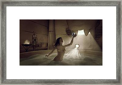 Behold The Sun Framed Print by Maynard Ellis