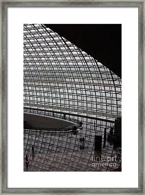 Beijing National Theatre With Silhouettes  Framed Print by Carol Groenen