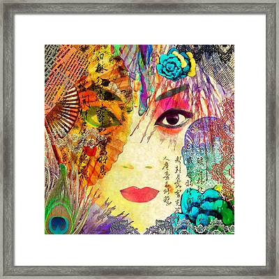 Beijing Opera Girl  Framed Print by Stacey Chiew