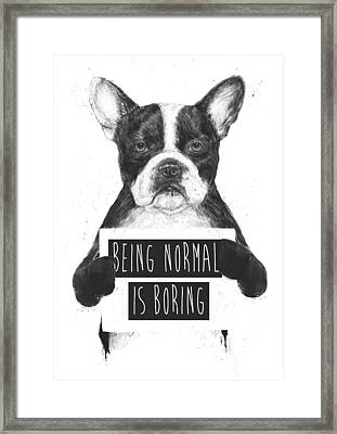 Being Normal Is Boring Framed Print by Balazs Solti