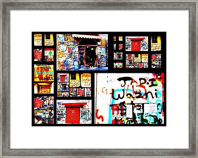 Beirut Colorful Walls  Framed Print by Funkpix Photo Hunter