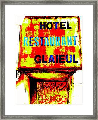 Beirut Funky Hotel  Framed Print by Funkpix Photo Hunter