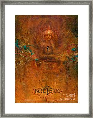 Believe Framed Print by Silas Toball
