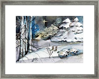 Believing Framed Print by Mindy Newman