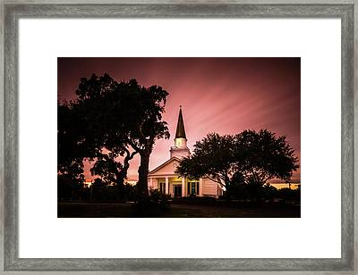 Belin Memorial Umc Sunset Framed Print by Ivo Kerssemakers