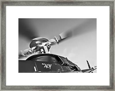 Bell 407 Framed Print by Patrick M Lynch