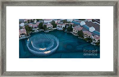 Bellagio Shoreline Framed Print by Andy Smy