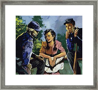 Belle Boyd Was A Spy During The American Civil War  Framed Print by American School