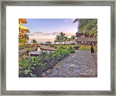 Bellevue Resort Panglao Island Philippines Framed Print by Kay Novy