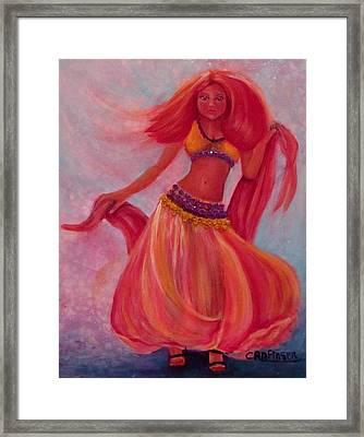Belly Dancer Framed Print by Carol Allen Anfinsen