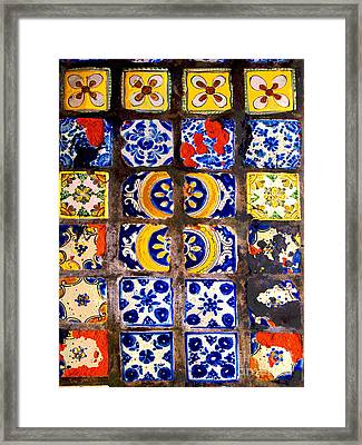Belmar Tiles By Darian Day Framed Print by Mexicolors Art Photography