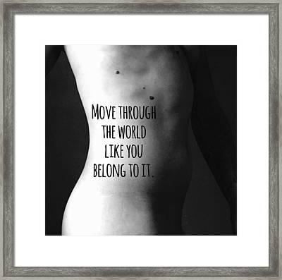 Belong Framed Print by Sara Young