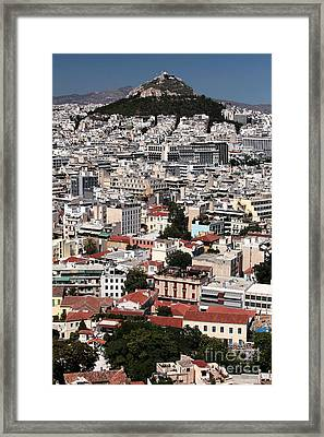 Below Mount Lykavittos Framed Print by John Rizzuto
