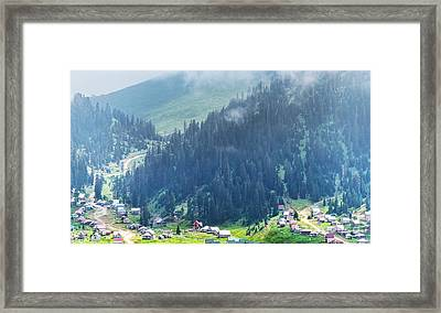 Below The Mountains Framed Print by Svetlana Sewell