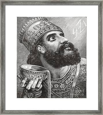 Belshazzar Framed Print by Lionel F Stevenson