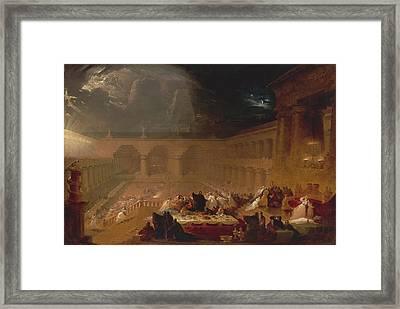 Belshazzars Feast By John Martin Framed Print by John Martin