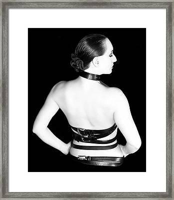 Belted 2 - Self Portrait Framed Print by Jaeda DeWalt