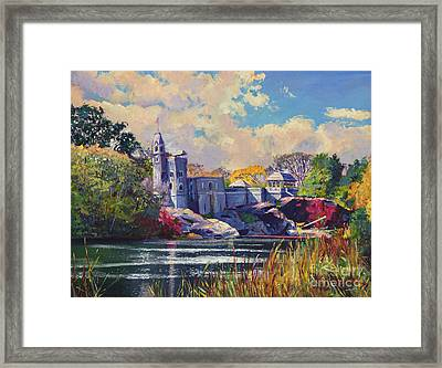 Belvedere Castle Central Park Framed Print by David Lloyd Glover