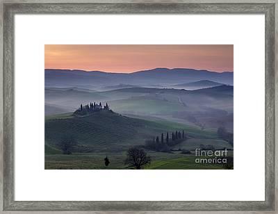 Belvedere Dawn Framed Print by Brian Jannsen