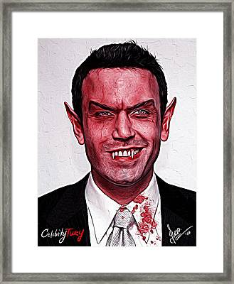 Ben Affleck Framed Print by Gene Spino