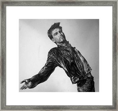 Ben Affleck Framed Print by Jennifer Bryant