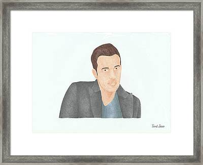 Ben Affleck Framed Print by Toni Jaso