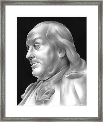 Ben Franklin Framed Print by Greg Joens