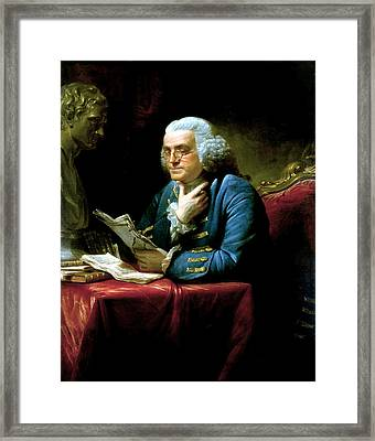 Ben Franklin Framed Print by War Is Hell Store