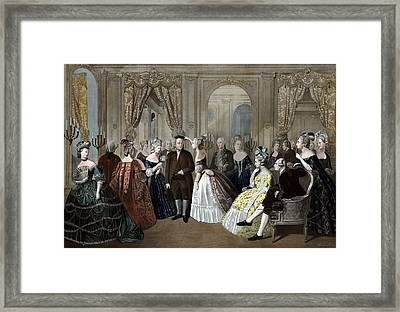 Ben Franklin's Reception At The Court Of France  Framed Print by War Is Hell Store