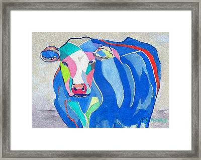 Ben Jerrys Cow Fantasy Framed Print by Sue Prideaux