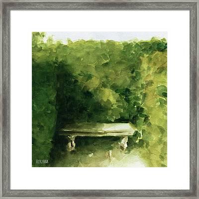 Bench Parc De Bagatelle Paris Framed Print by Beverly Brown