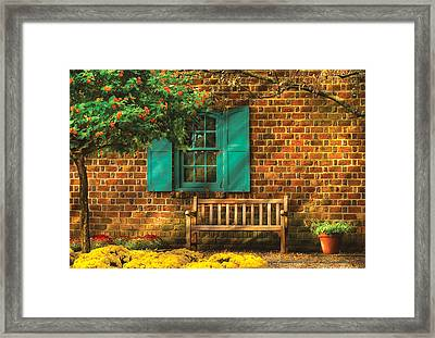 Bench - Please Have A Seat Framed Print by Mike Savad