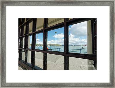 Bench With A View Falmouth Framed Print by Terri Waters