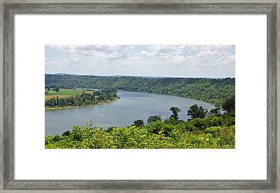 Bend In The River Framed Print by Sandy Keeton