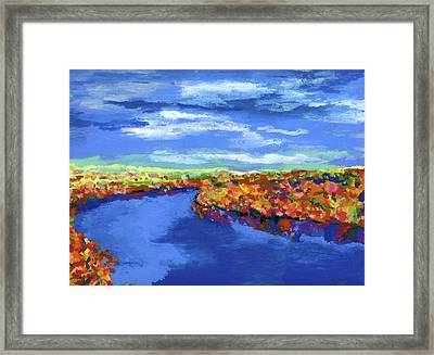 Bend In The River Framed Print by Stephen Anderson