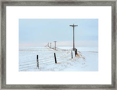 Bend In The Road Framed Print by Todd Klassy