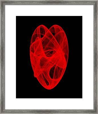 Bends Unraveling IIi Framed Print by Robert Krawczyk