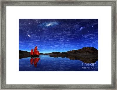 Beneath A Jewelled Sky Framed Print by John Edwards