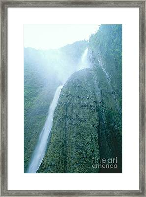 Beneath A Waterfall Framed Print by Peter French - Printscapes