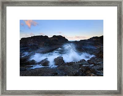 Beneath The Arch Framed Print by Mike  Dawson