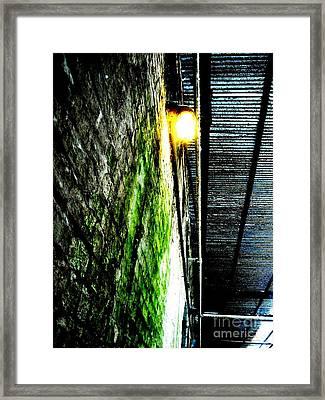 Beneath The Boardwalk Framed Print by Mike Grubb