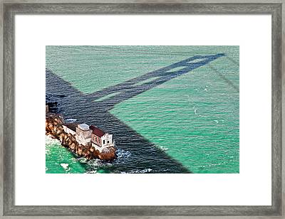 Beneath The Golden Gate Framed Print by Dave Bowman
