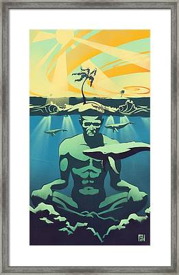 Beneath The Surface Framed Print by Patrick Horn