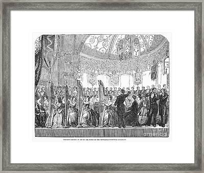 Benefit Concert, 1853 Framed Print by Granger